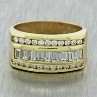 Vintage Estate 14k Solid Yellow Gold 1.50ctw Diamond Band Ring