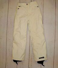 SPYDER Kids 16 XSCAP Snow Ski Snowboard Pants Cream Elastic Waist Skiing