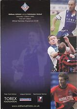 OLDHAM ATHLETIC v COLCHESTER UNITED Division 2 2001 / 02 - March 2nd 2002