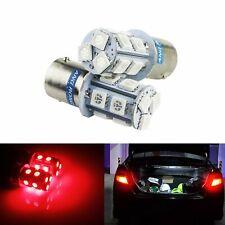 Lot 2 Ampoules LED P21W BA15s 13 SMD Rouge Lampe Feux de Stop Recul Arrière 12V