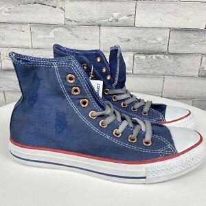 Converse Chuck Taylor All Star Mens 7 Women's 9 Distressed Denim Sneaker Shoes