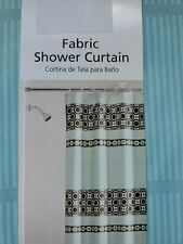 New Mainstays Fabric Shower Curtain  Brown Blue Aqua