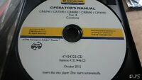 NEW HOLLAND CR6090 CR7090 CR8080 CX8090 CR9090 COMBINE OPERATORS MANUAL CD DN129