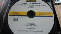 NEW HOLLAND CR6090 CR7090 CR8080 CX8090 CR9090 COMBINE OPERATORS MANUAL CD DN129