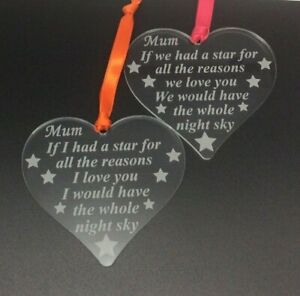 mum star for reasons you are loved plaque birthday christmas mothers day gift