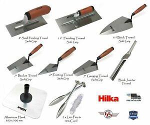 Hilka Finishing/Brick/Bucket/Pointing Trowel, Hawk, Plasterer/Bricklayer Tools