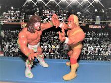 "LOT OF 2 WWF HASBRO WRESTLING FIGURES ""THE ULTIMATE CHALLENGE"" HOGAN vs WARRIOR"