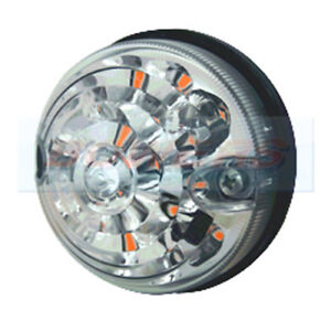 LAND ROVER DEFENDER RDX 73MM / 74MM CLEAR LED FRONT / REAR INDICATOR LAMP LIGHT