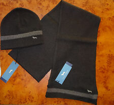 ON SALE NEW Harmont & Blaine brown men's set hat & scarf cashmere Italy one size