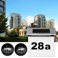 Solar Hausnummer Beleuchtung Hausnummernleuchte Beleuchtet Edelstahl 4 LED Weiß