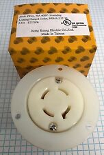 NEMA L17-30 FLANGED OUTLET, 3 Pole, 4 Wire, 30A 600V, UL listed.