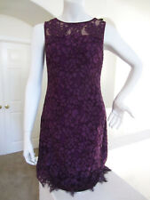 RALPH LAUREN Womens Lace Sleeveless Sheath Dress Plum NWT Size 8 $175
