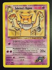 Pokemon!! Sabrina's Hypno Gym Challenge 56/132! Uncommon! EX! EN!