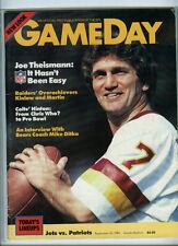 NEW ENGLAND PATRIOTS vs/at NY JETS OFFICIAL NFL GAMEDAY PROGRAM 9/30/1984 NE WON