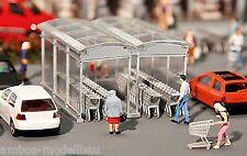 Faller 180606 H0, Moderner Einkaufswagen Unterstand, Bausatz, Neu