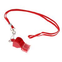 Trillerpfeife Schiedsrichterpfeife Pfeife Signalpfeifen mit Halsband Rot