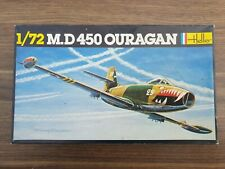 Heller 1/72 Scale model of a M.D 450 Ouragan   # 201   COMPLETE.