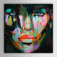 Hand-painted  Art Canvas OIL PAINTING Wall Decor Woman Face#212 No Frame