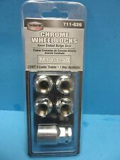 Set of (4) Chrome Wheel Locks With Key Open Ended DORMAN 711-626 Expedited