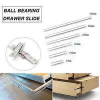 1pair 16mm Ball Bearing Drawer Runners Slides Full Extension 70-300mm 2 sections