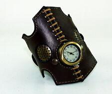 Wrist Watch, Leather Bracelet  Lady of Devices  steampunk Elegant Gothic