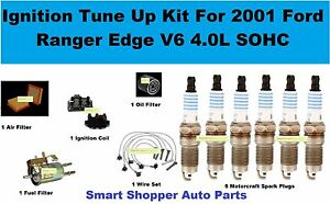 Ignition Tune Up For Ford Ranger Edge V6 4.0L Air Oil Fuel Filter Spark Plug Wir
