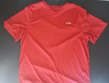 Champion Duo Dry Athletic T Shirt Men's Lg Red Short Sleeve