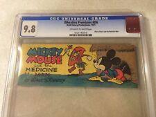 MICKEY MOUSE - MEDICINE MAN #D6 CGC 9.8 NM/MT, TOP GRADED, WHEATIES, DISNEY 1951