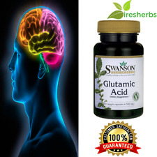 Glutamic Acid Memory Mental Cognitive Health Stress Relaxation Supplement Pills