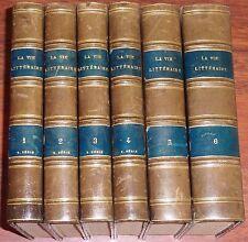 LA VIE LITTERAIRE Petit Magazine illustré revue Fayard 7 tomes 6 volumes reliés