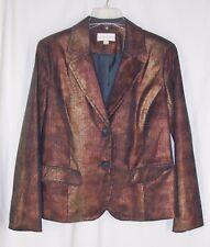 Erin London Blazer Jacket M Metallic Pinstripe Lined