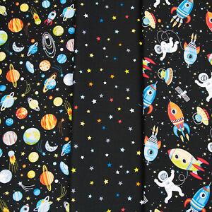 Planeten Sterne Raketen Astronauten Serie von Makower  Patchwork Stoffe