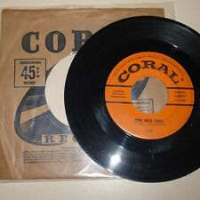 1958 ROCKABILLY 45 RPM RECORD - IVAN (Jerry Ivan Allison) - CORAL 62017