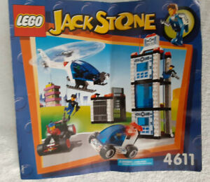LEGO 4611 JACK STONE POLICE HQ 100% Complete