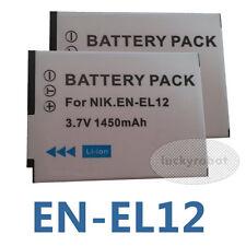 2X EN-EL12 Battery for Nikon Coolpix A900 AW100 W300 S9900 S9300 AW310 P340 S31