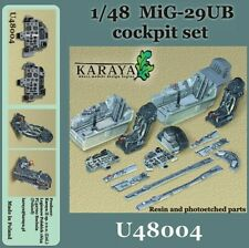 Karaya 1/48 Mikoyan MiG-29UB 'Fulcrum' Cockpit Set # U48004