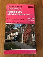 Ordnance Survey Map 165 - Aylesbury And Leighton Buzzard