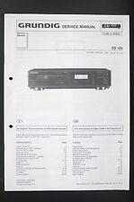 Grundig Cd 103 Original Cd Player Service Manual/Wiring Diagram/Diagram O85