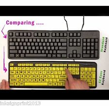 """""""EZ Eyes"""" LARGE PRINT KEYBOARD * As Seen ON TV * Spill Resistant, Not In Box"""