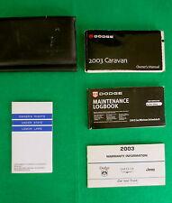 2003 03 Dodge Caravan Owners Manual,   H16D