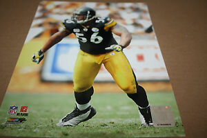 PITTSBURGH STEELERS LAMARR WOODLEY UNSIGNED 8X10 PHOTO POSE 2