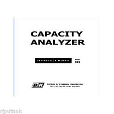 new Service Manual for B&K 801 Capacitor Capacity Analyzer with LARGE schematic
