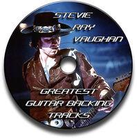 32 x STEVIE RAY VAUGHAN SRV STYLE MP3 BLUES ROCK GUITAR BACKING JAM TRACKS CD