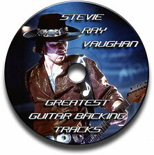 32 x STEVIE RAY VAUGHAN SRV STYLE MP3 BLUES ROCK GUITAR BACKING JAM TRACKS CD