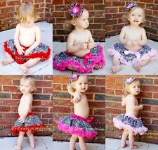 Lot 3 Hot Zebra Newborn Baby 3 Skirts Tutu Pettiskirt