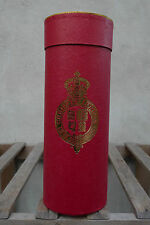 Christys' Hat Box Tube for Folding Panama - 11in/28cm Red and Gold