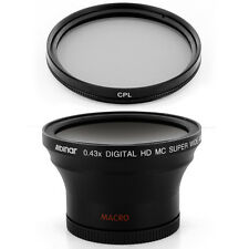 Albinar 58mm 0.43x Wide Angle + Macro Lens, Filter for Canon EOS 500D/Rebel T1i