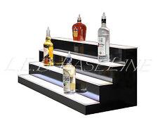 """46"""" LED BAR SHELVES, Four Steps, Lighted Bar Shelf, Liquor Bottle Display Rack"""