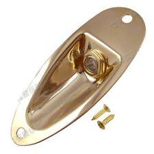 """1 Pcs Gold Boat Jack Plate 1/4"""" Guitar Jack 6.35mm Output Input Plug Socket"""