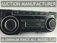 VW Touran 2010-2015 Alluminio Anello Ventilazione Anelli Cromati 2 pezzi